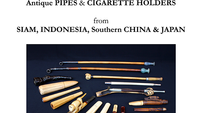 An Unique Collection of Antiques Pipes & Cigarette Holders from Siam, Indonesia, Southern China &Jap
