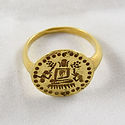 PYU GOLD RING; BUDDHA; ELEPHANT; MONKEY