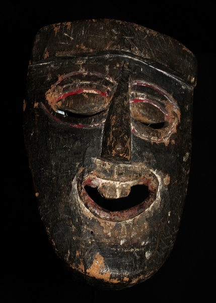 HIMALAYAN PRIMITIVE SHAMANIC ANTIQUE MASK