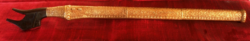 TORAJA ANTIQUE SWORD SILVER GILT