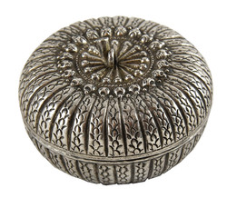 SIAM ANTIQUE SILVER PUMPKIN BOX