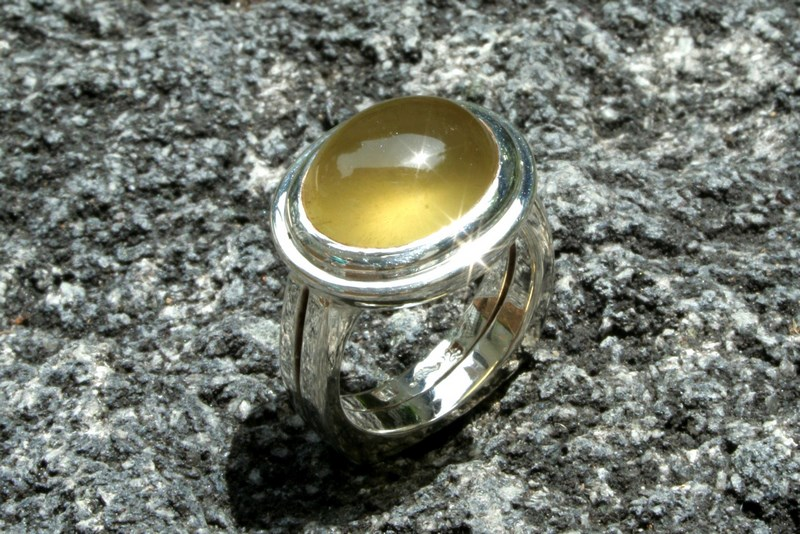 HELIODOR & SILVER RING