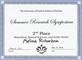 Melina Richardson 2nd Place at Summer Re