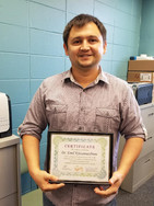 Dr. Emil Khisamutdinov following his guest lecture to CHEM 4090 students on methods of nanoparticle characterization