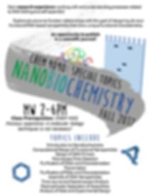 Nanobiochemistry Flyer