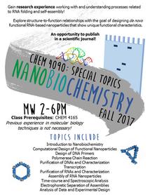 Nanobiochemistry (Fall 2017)