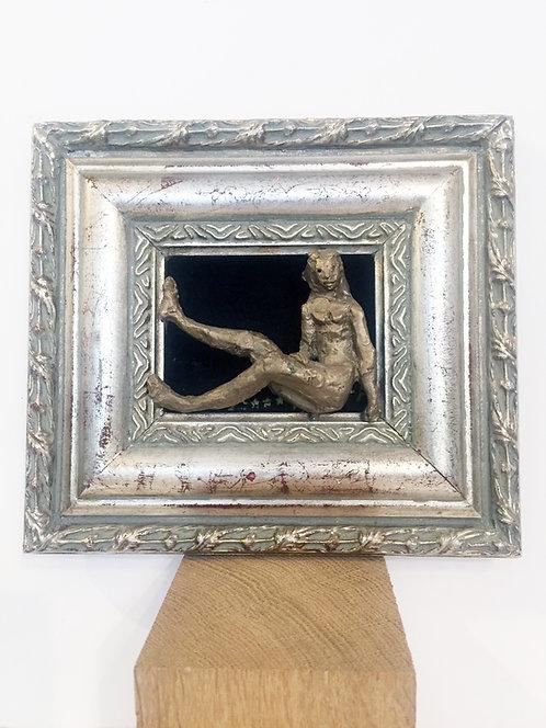 "Artiste CADE Bronze ""Nu dans un cadre"""
