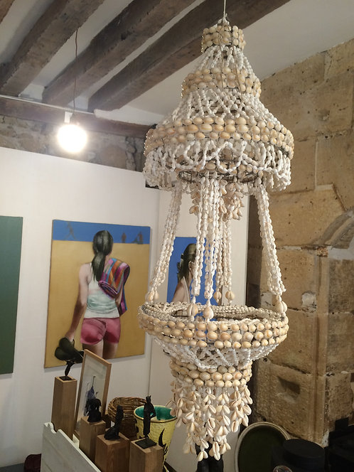 Seashells candlestick/Chandelier en coquillages