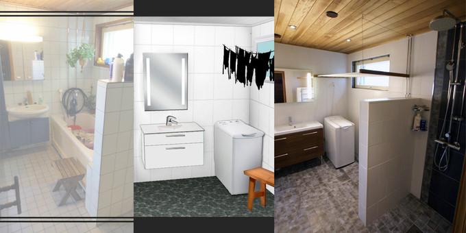 Pesuhuone, ennen-muutos-jälkeen