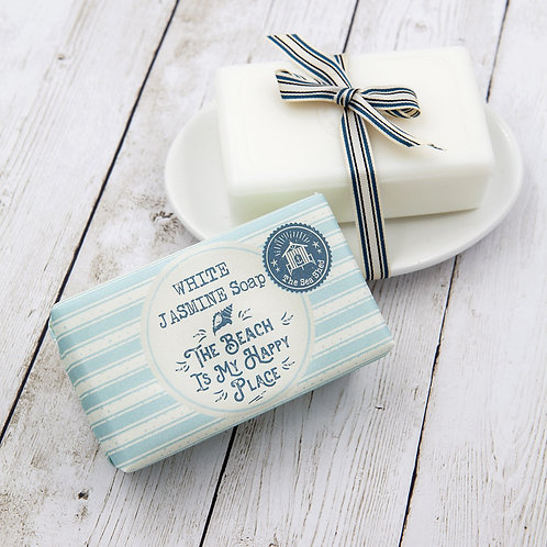 White Jasmine soap - The beach is my happy place 190g