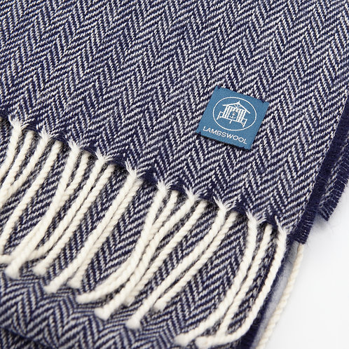 Lambswool Scarf - Navy