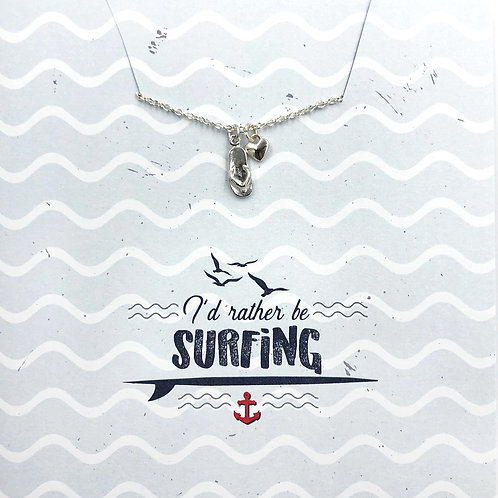 I'd rather be surfing - Jewellery Card