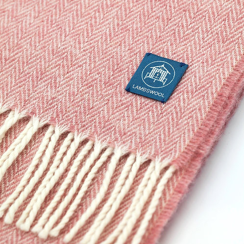 Lambswool Scarf - Coral