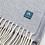 Thumbnail: Lambswool Wrap/Blanket Scarf - Light Blue