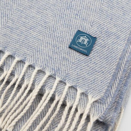 Lambswool Wrap/Blanket Scarf - Light Blue