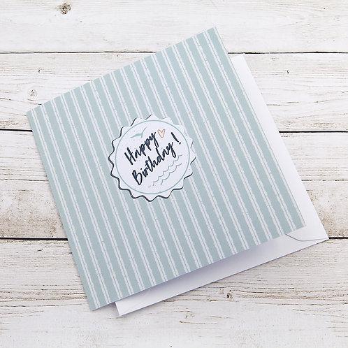 Happy Birthday! Stripes - Personalised Card