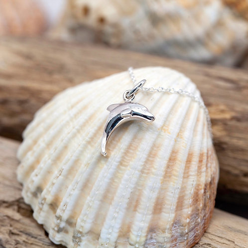 Sterling Silver - Porthcurno Dolphin