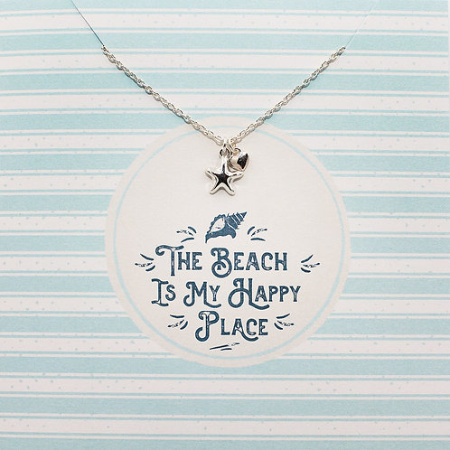 The beach is my happy place - Jewellery Card