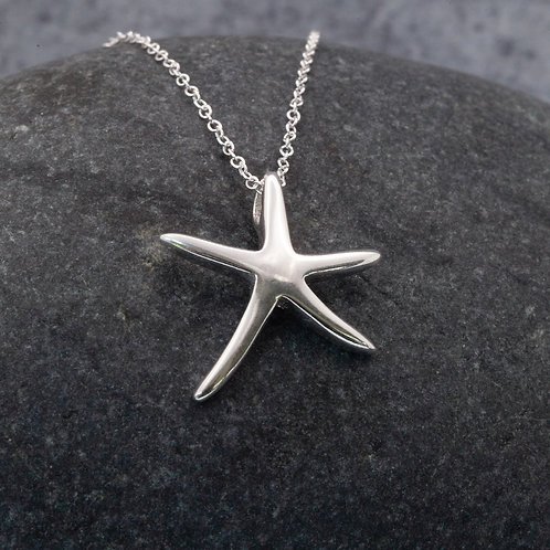 Sterling Silver - St Ives Starfish Pendant