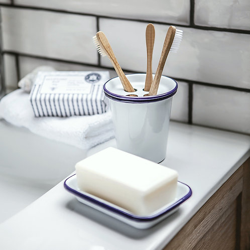 Enamel toothbrush holder