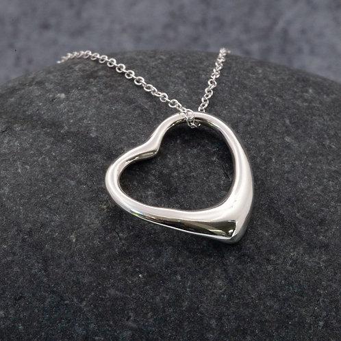 Sterling Silver - Open Heart Pendant