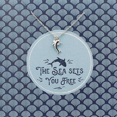 The sea sets you free - Jewellery Card
