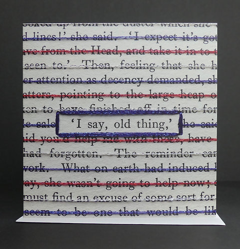 I say, old thing