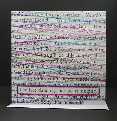 Her feet dancing, her heart singing