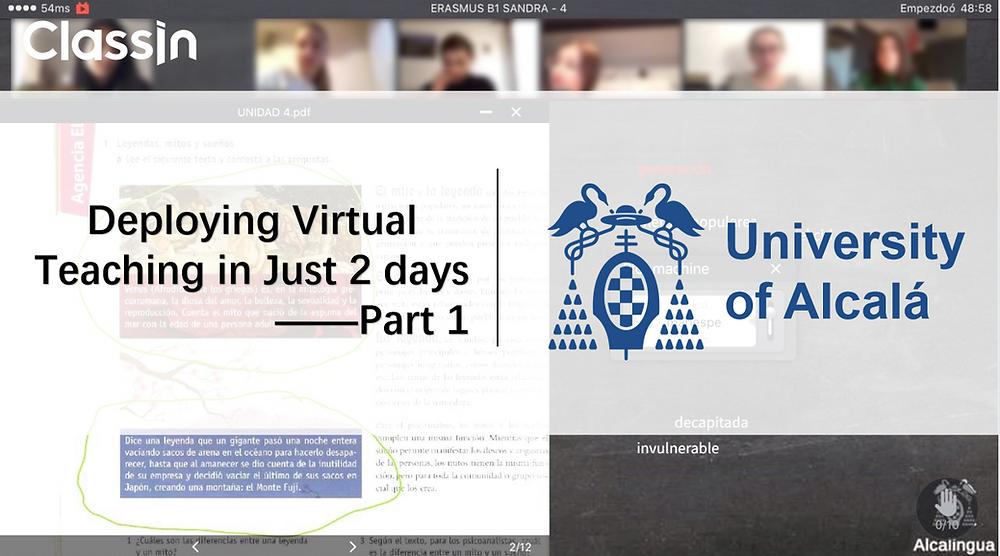 Deploying virtual teaching in just 2 days