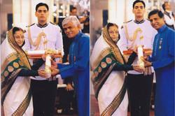 Receiving Padma Shri (2012)
