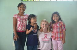 Visiting the children of the clinic