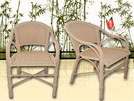 Cadeira em alumínio e fibra