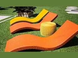 Espreguiçadeira de fibra sintética