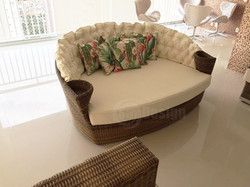 Chaise de fibra sintética