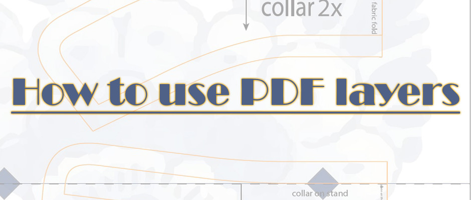 How to use PDF layers