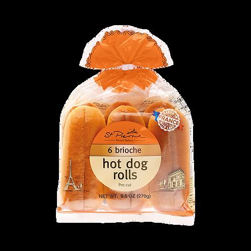 St. Pierre Brioche - 6 pc Hot Dog Buns