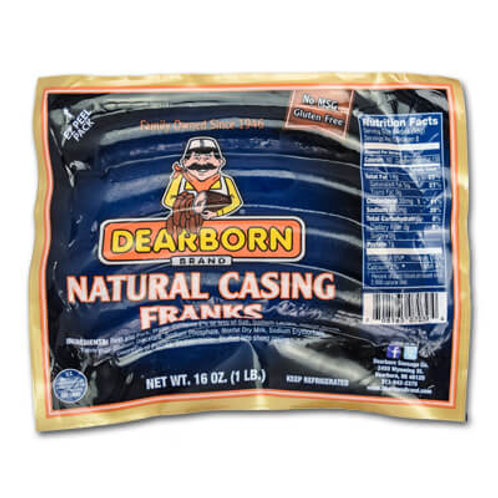 Dearborn Natural Casing Hot Dogs