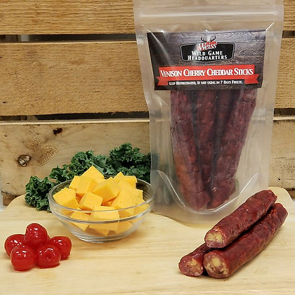 Venison Cherry Cheddar Snack Sticks