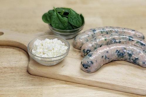 Spinach Feta Chicken Sausage - ( Per lb. )