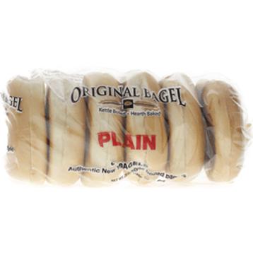 Plain Bagels - 6 ct