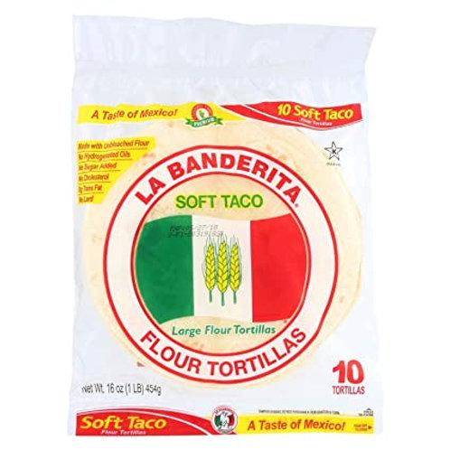 "LaBanderita 8"" Soft Taco, 10 ct."
