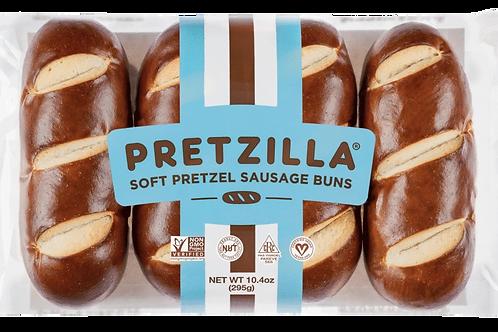 Pretzel Sausage Buns - 4 pc