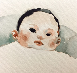 watercolor on paper, 10x10cm, 2015