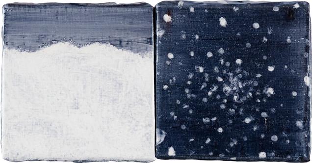 Oil on Canvas, 10x10cm, 2pcs, 2017
