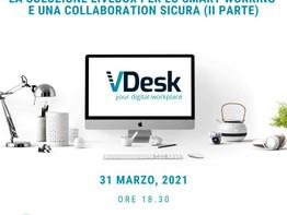 Nuovo appuntamento con vDesk: save the date