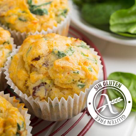 Muffins con verduras y harina de garbanzo