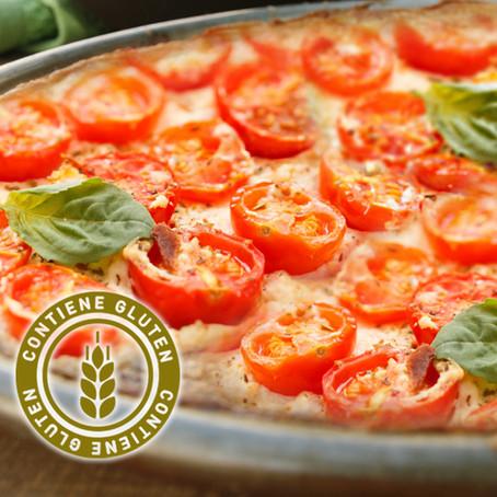 Fainá con tomate y orégano