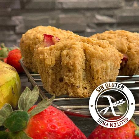 Muffins con frutillas y banana