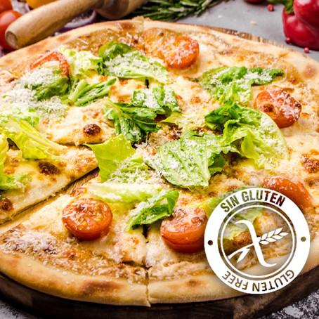 Pizza sin gluten con harina de garbanzo