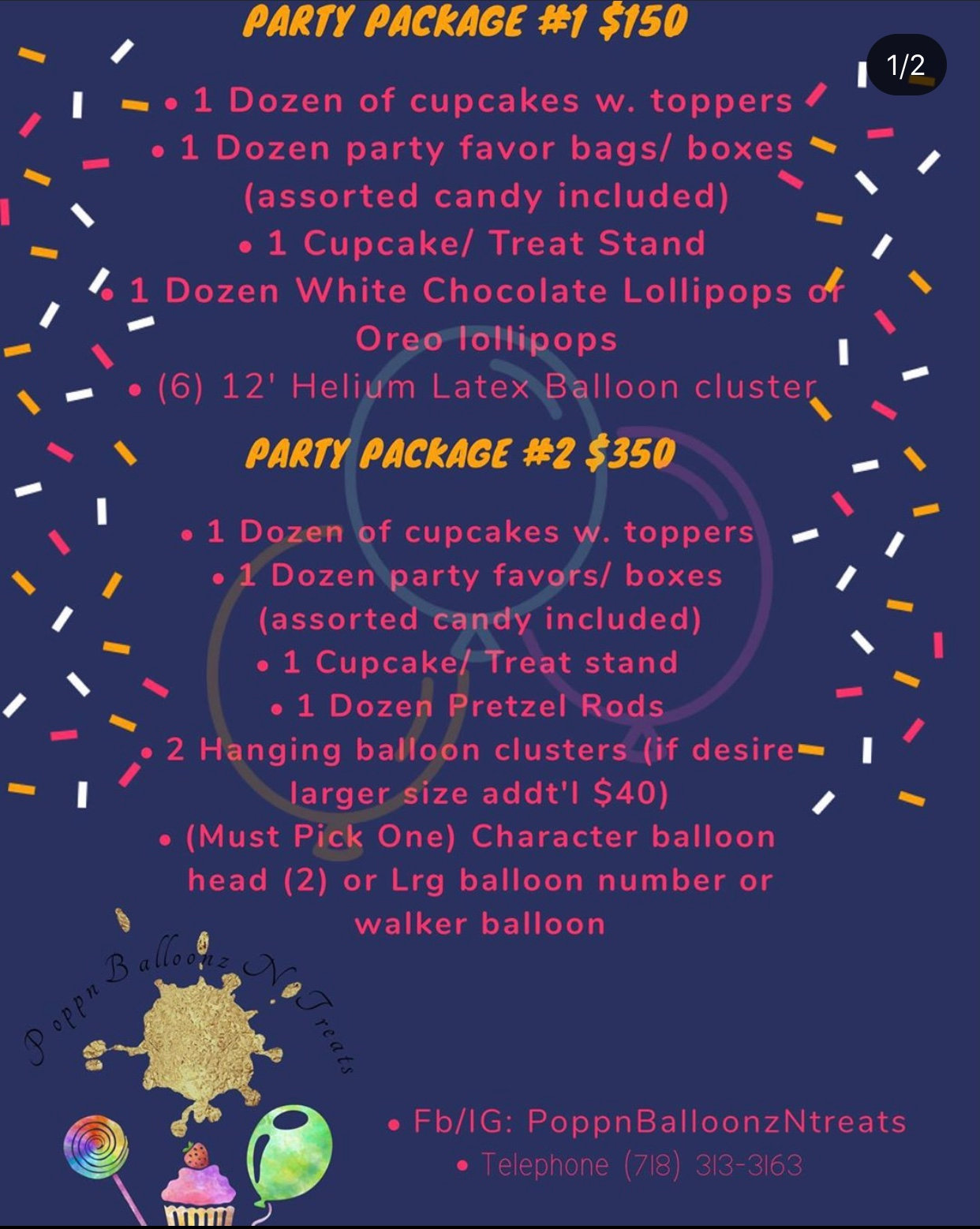 Party Package #1 or #2